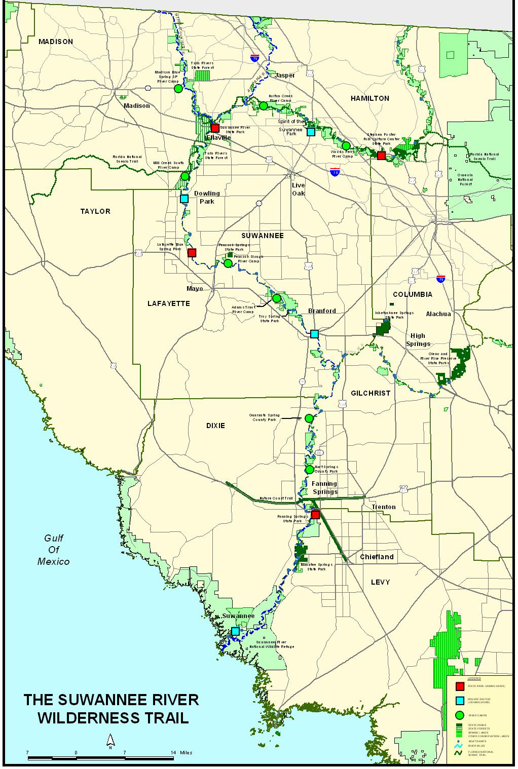 Suwannee River Basin WWALS Watershed Coalition Suwannee - Florida map rivers