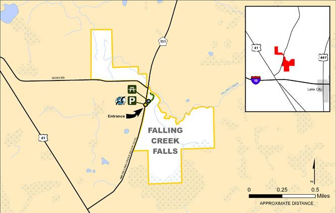 Deep Creek Florida Map.Falling Creek Falls Suwannee River Water Management District
