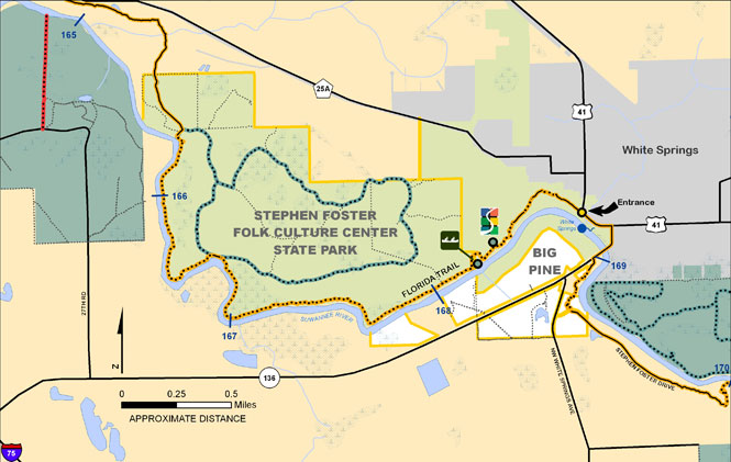Big Pine, Stephen Foster Map