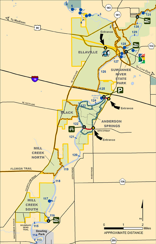 Ellaville, Black, Anderson, Mill Creek Map