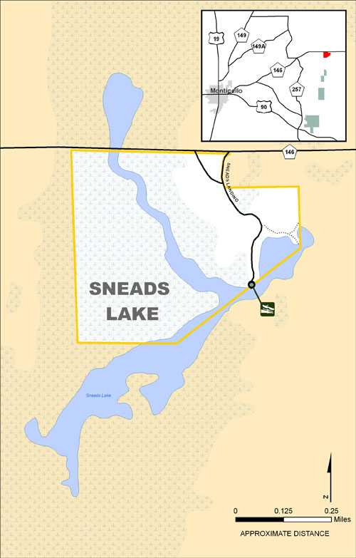 Snead Lake Map