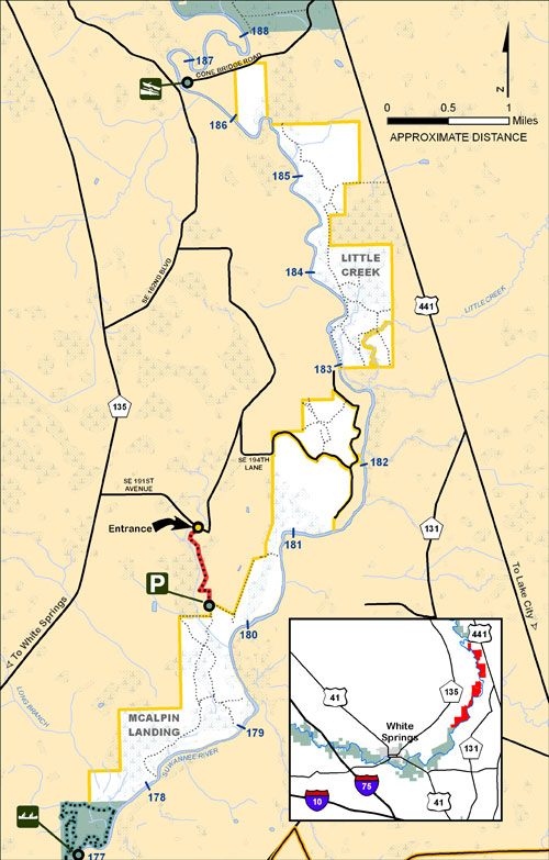 Little Creek, McAlpin Landing Map