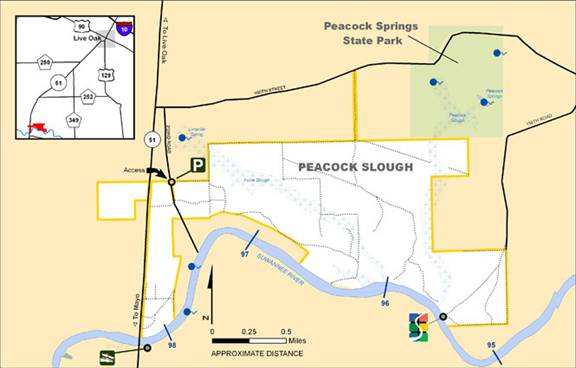 Peacock Slough Map
