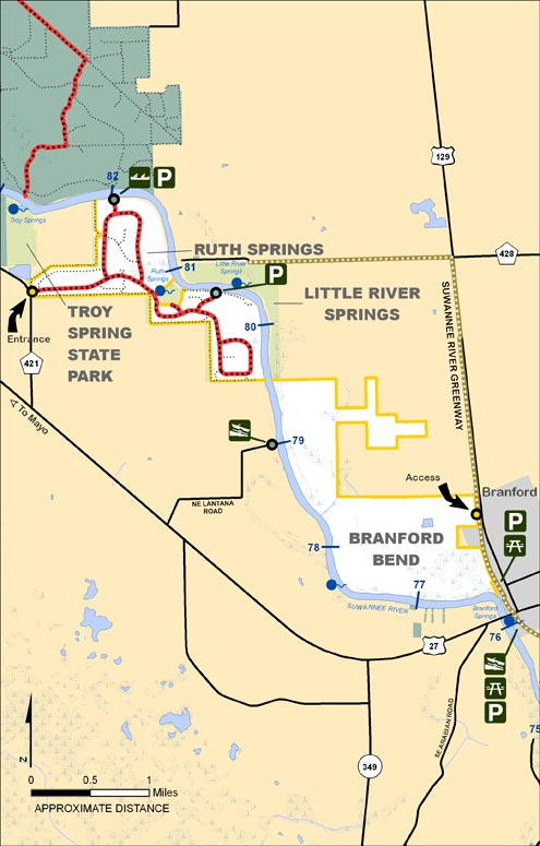 Ruth Springs, Branford Bend Map
