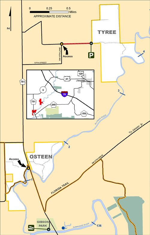 Tyree, Osteen Map