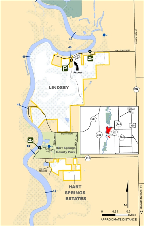 Lindsey, Hart Springs Estates Map