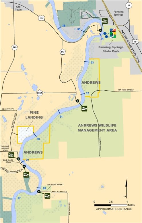 Andrews Pine Landing Map