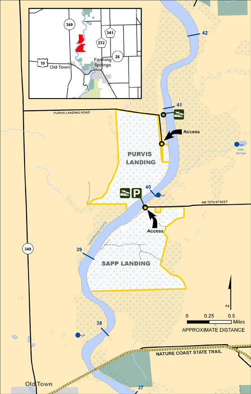 Purvis Landing, Otter Springs, Shingle Landing Map