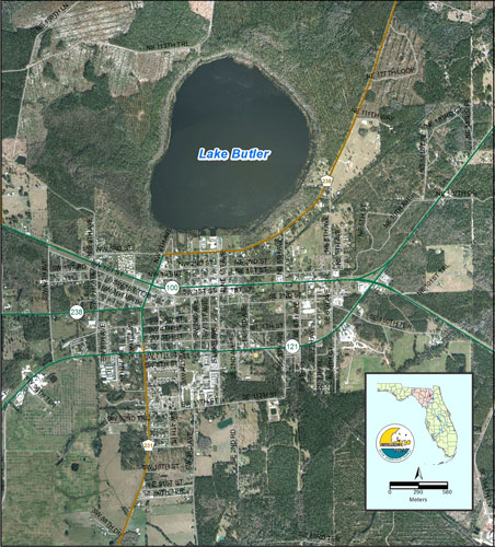 Lake Butler Map