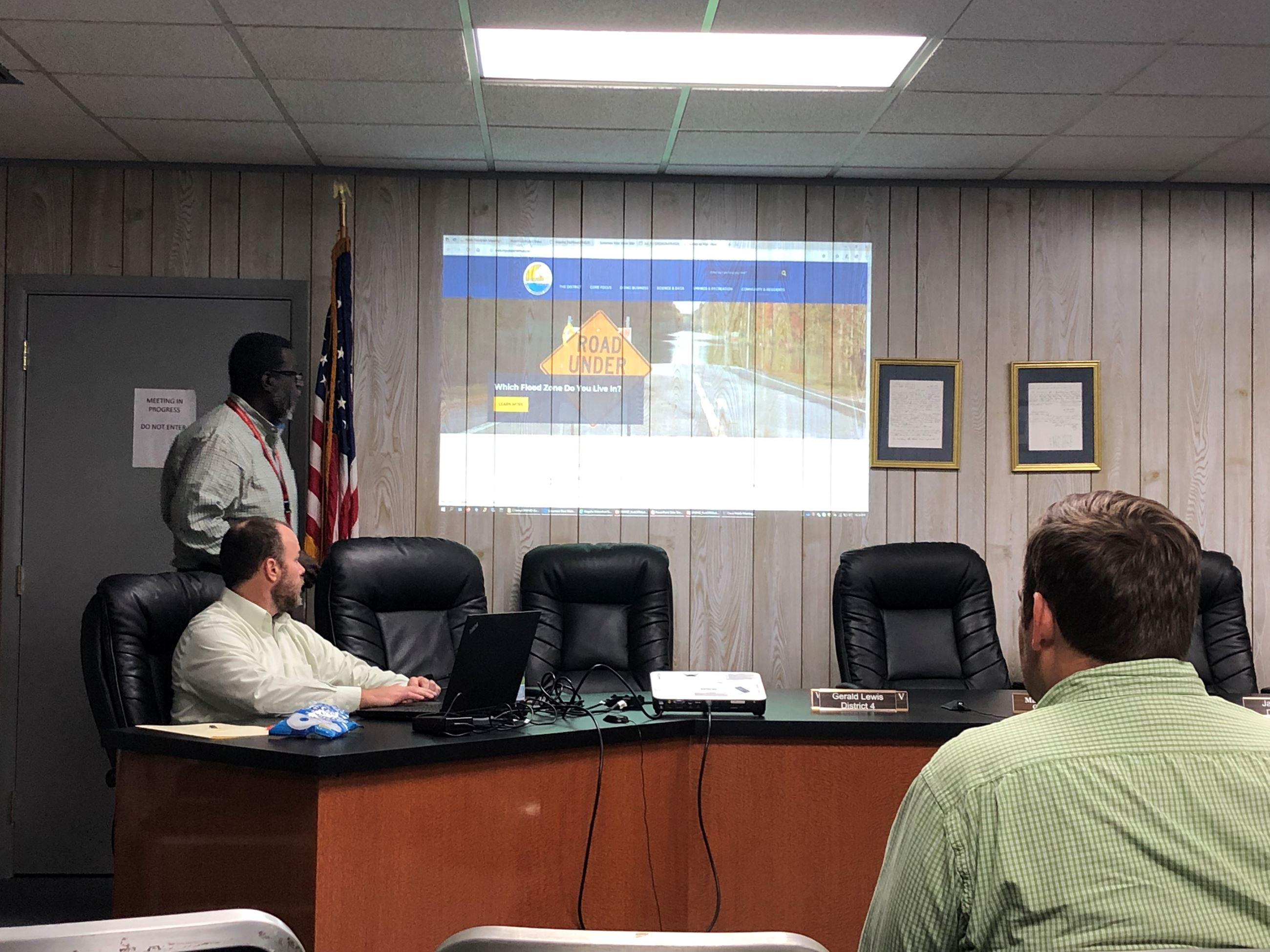 Leroy Marshall, Chief Professional Engineer for the Suwannee River Water Management District, gives