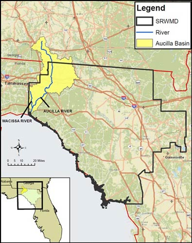 Aucilla-Wacissa River Basin Map