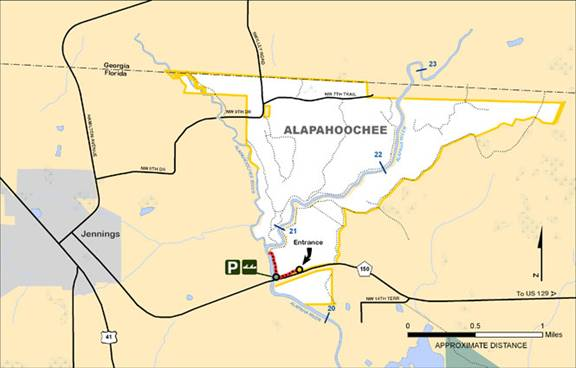 Alapahoochee Map