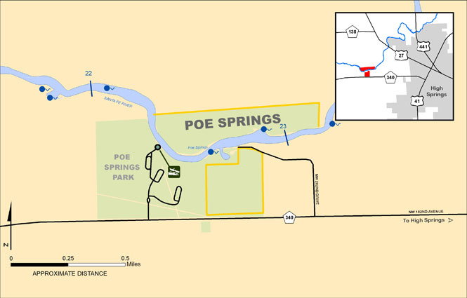 Poe Springs Map