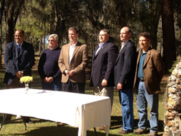 Stakeholders gather at Santa Fe River Ranch for the signing of the Santa Fe River BMAP
