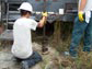 Contractors drill test wells to evaluate aquifer recharge.